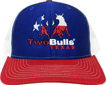 Picture of TwoBulls Mesh Cap - Red, White & Blue - Texas