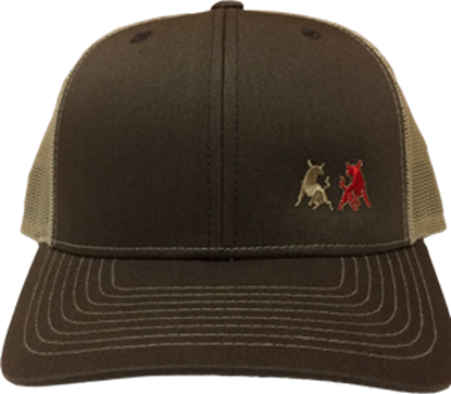 Picture of TwoBulls Mesh Cap - Brown & Tan
