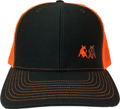 Picture of TwoBulls Mesh Cap- Charcoal & Neon Orange