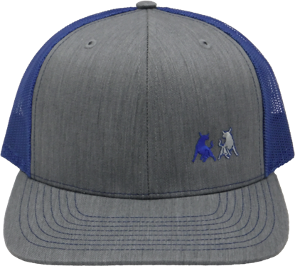 Picture of TwoBulls Mesh Cap- Heather Grey & Royal Blue